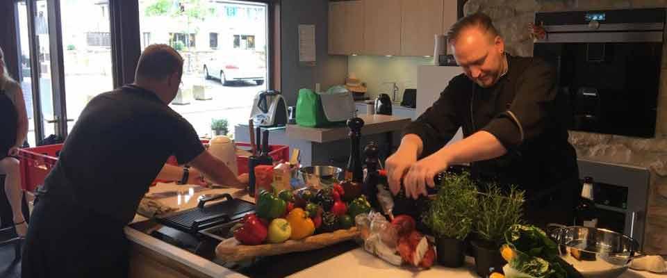 Kochkurse mit Kai Lach im Küchen-Studio Schreiner Meier